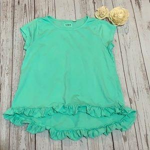 Girls SS Kidpik ruffle shirt size L/12